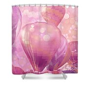 Surureal Hot Air Balloons Lavender Pink White Decor - Carnival Hot Air Balloons Nursery Room Decor Shower Curtain