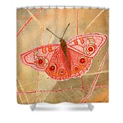 Survival Butterfly Shower Curtain