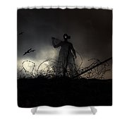 Survivorman Shower Curtain by Stelios Kleanthous