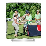 Susan Accepting Prize Shower Curtain