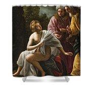 Susanna And The Elders Shower Curtain by Ottavio Mario Leoni
