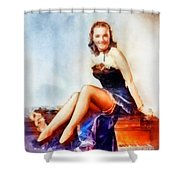 Susanna Foster, Vintage Hollywood Actress Shower Curtain