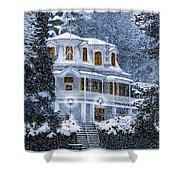 Susanville Elks Lodge At Christmas Shower Curtain
