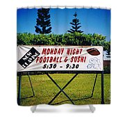 Sushi And Football In Hawaii Shower Curtain