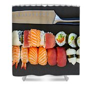 Sushi And Knife Shower Curtain