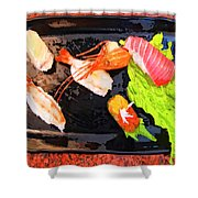 Sushi Plate 2 Shower Curtain
