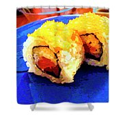 Sushi Plate 3 Shower Curtain