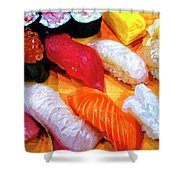 Sushi Plate 4 Shower Curtain