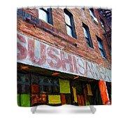 Sushi Samba Sketch Shower Curtain