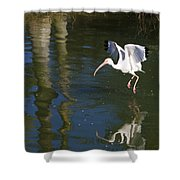 Suspended In Flight Shower Curtain