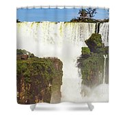 Suspended Land Shower Curtain