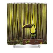 Suspenders Shower Curtain by Jasper Oostland