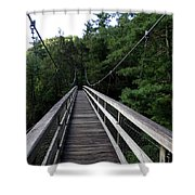 Suspension Bridge 3 Shower Curtain