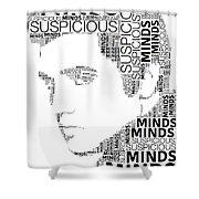 Suspicious Minds Elvis Wordart Shower Curtain