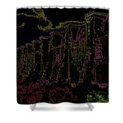 Sutherland Dam Dark  Shower Curtain