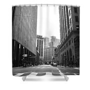 Sutter Street - San Francisco Street View Black And White  Shower Curtain