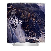 Suvorov Crossing The Alps In 1799 Shower Curtain