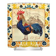 Suzani Rooster 1 Shower Curtain