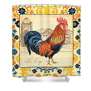 Suzani Rooster 2 Shower Curtain