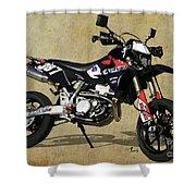 Suzuki Race Motorcycle. 387. Shower Curtain