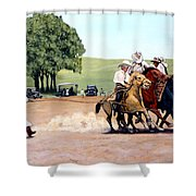 Suzzi Q. Whirling The Rope Shower Curtain
