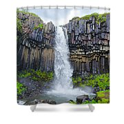 Svartifoss, Iceland Shower Curtain