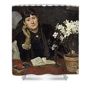 Sven Richard Bergh - The Artist, Julia Beck 1883 Shower Curtain