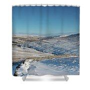 Swaledale In Winter Shower Curtain