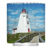 Swallowtail Lighthouse Shower Curtain