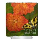 Swallowtails Journey Shower Curtain