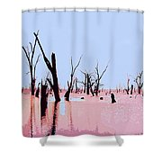 Swamp And Dead Trees Shower Curtain