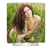 Swamp Beauty Eight Shower Curtain