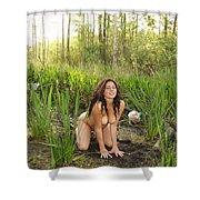 Swamp Beauty Five Shower Curtain