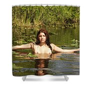 Swamp Beauty Three Shower Curtain