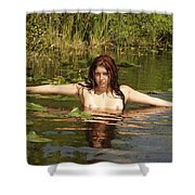 Swamp Beauty Two Shower Curtain