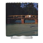 Swamp Bridge Shower Curtain