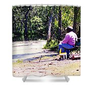 Swamp Fishing Shower Curtain