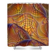 Swamp Gas Mesh Shower Curtain