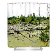 Swamp Habitat Shower Curtain