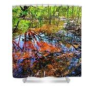 Swamp Pallet Shower Curtain