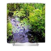 Swamp Plants Shower Curtain