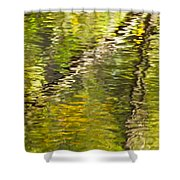 Swamp Reflections Abstract Shower Curtain