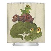 Swamp Squad Shower Curtain