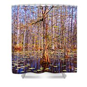Swamp Tree Shower Curtain