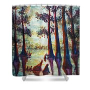 Swamplight Shower Curtain