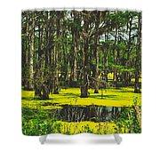 Swampy Beauty Shower Curtain