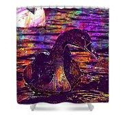 Swan Bird Animal Lake Summer  Shower Curtain