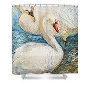 Swan Couple Shower Curtain