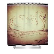 Swan Song Shower Curtain