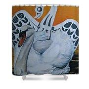 Swan Totem Shower Curtain